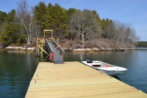 Lowes Cove floating pier and dock