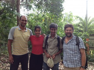 Pictures of Rick and collaborators in India