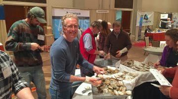 Damariscotta River oyster shucking at NACE