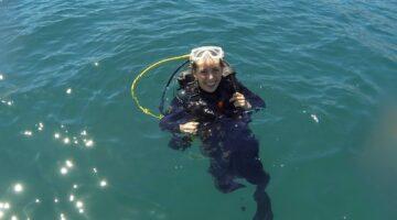 Student scuba diving